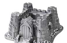 Medieval Manor Cake Molds - The Castle Bundt Pan Creates Imaginative Desserts