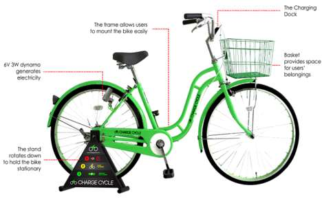 Pedal-Powered Mobile Chargers