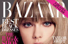 Polished Pop Star Photoshoots - Taylor Swift Harper's Bazaar US Editorial is Chic and Sophisticated