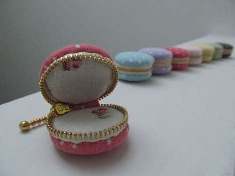 The Macaron Linen Trinket Box Resembles the Addictive Cookie Desserts