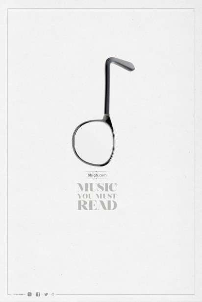 Musical Note Eyewear Ads