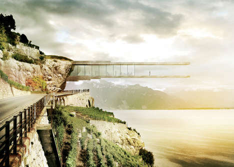 Cliff-Hanging Cantilever Museums