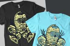 Day of the Dead Droid Tees - These Star Wars Afterlife Shirts are Humorous and Edgy