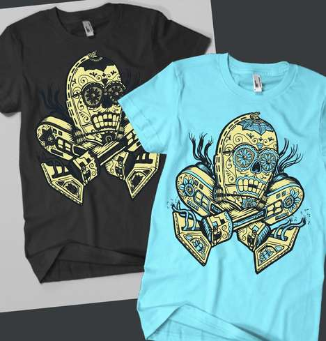 Day of the Dead Droid Tees
