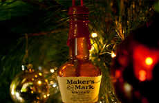 Boozy Christmas Ornaments - These Mini Alcohol Bottle Tree Ornaments are Modern