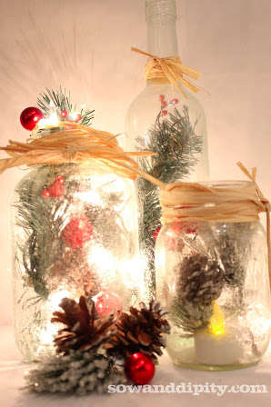 Frosted Holiday Mason Jars - Make Your Season Bright with These DIY Christmas Decorations