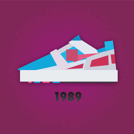 Jack Stocker Uncovers Nike Shoe Designs in Graphic Art Piece