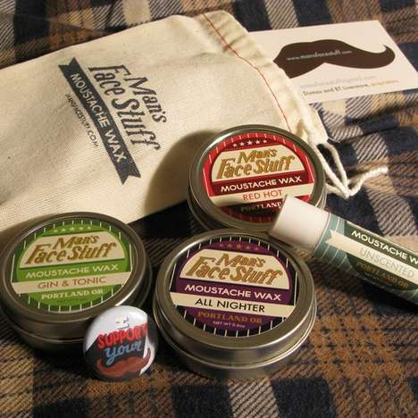 Facial Hair Styling Sticks - The Moustache Wax Comes in a Covert Travel-Friendly Chapstick Form