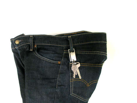 The Polished Steel KeySquare Loops Around Your Denim Jeans