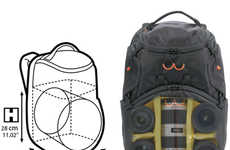 Gun Chamber-Like Camera Bags - The Revolver-8 PL Revolving Backpack Allows Quicker Access to Lenses
