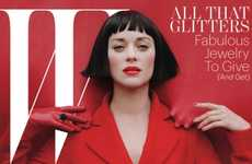 Insidiously Luxe Covers - Marion Cotillard Channels the Queen of Hearts in the W Issue