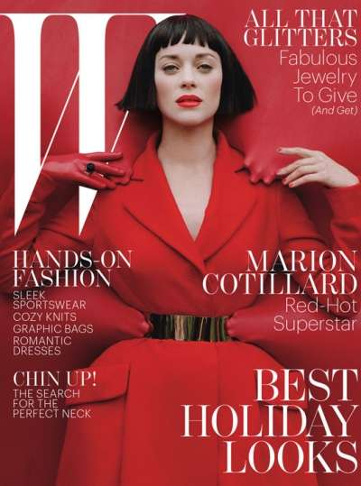 Marion Cotillard Channels the Queen of Hearts in the W December 2012 Issue