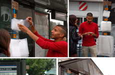 Stress-Relieving Commuter Stations - 'Antistress for Free' Lets Travelers Burst Bubbles for Relief