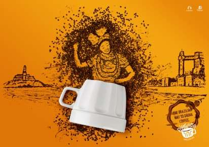 Coffee Bean Portrait Ads