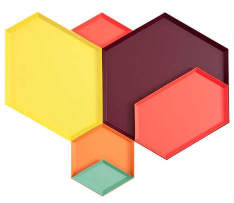 Vibrant Geometric Platters