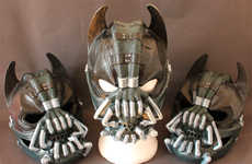 Hero-Villain Hybrid Art - Artist Pays Homage to The Dark Knight in a Batman Bane Crossover Mask