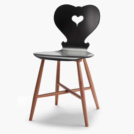 Silhouetted Heart-Shaped Seating