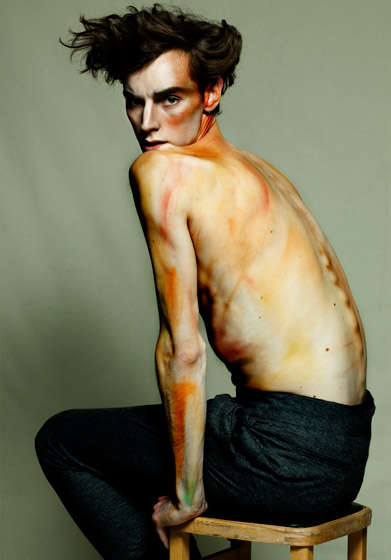 Impressionist-Inspired Portraits - Egon Schiele Inspires the Hunger Magazine Wired Editorial