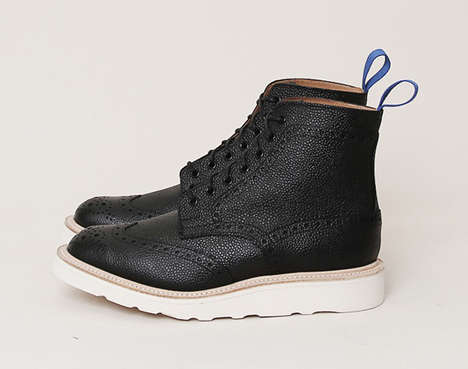 Oxford-Infused Boots - The Brogue Derby Boot is a Gentleman's Walking Shoe