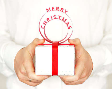 3D Circular Holiday Tags