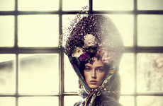 Distorted Vintage Portraits - The Gala 'So Schoen Wie Gemalt' Editorial is Elegantly Ladylike