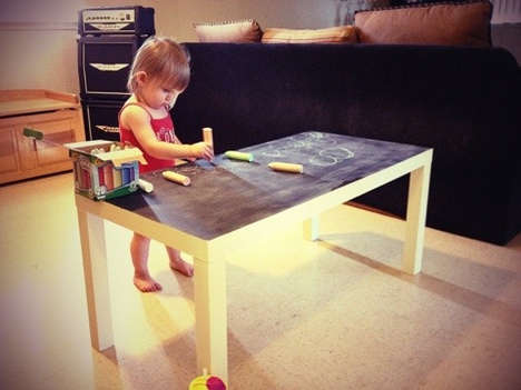 DIY Blackboard Furniture - The Chalkboard Coffee Table by Jill of Most Trades is Fit for Children
