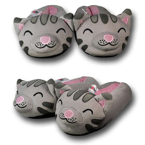 Geeky Kitty Slip-ons - Big Bang Theory Kitty Plush Slippers Will Make You Purrfectly Warm