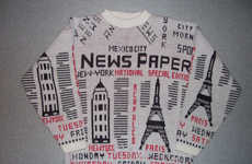Newspaper-Printed Pullovers - The Paperboy Hipster Sweater Resembles the 1980s Grunge Scene