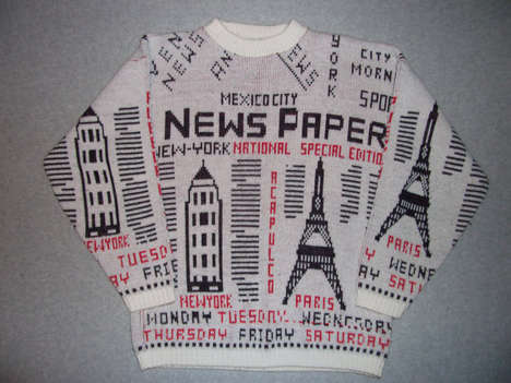 Newspaper-Printed Pullovers