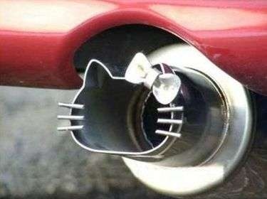 Feminine Feline Auto Parts - The Hello Kitty Car Exhaust Pipe is for Serious Fans of the Cartoon