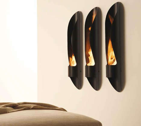 Wall-Mounted Cylindrical Hearths