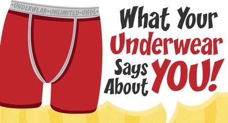 Ungergarment Personality Charts - The Underwear Identity Infographic Assigns Traits by Style