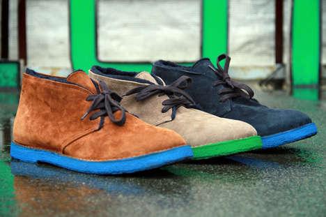 Vibrantly Soled Footwear