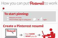 Pinned Resume Infographics - How to use Pinterest to Build Your CV in a Visual Manner