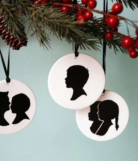These Custom Silhouette Christmas Ornaments are Simplistic