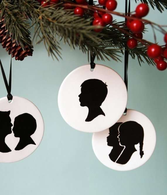 Personalized Portrait Ornaments Custom Silhouette Christmas Ornaments