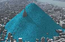 Tangible Pollution Visuals - CarbonVisuals Illustrates the Horrifying NYC Daily Carbon Footprint