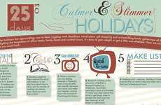 Festive Healthy Living Tips - Health Central Provides a Well-Balanced Holiday Diet Infographic