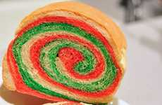 Holiday Spiral Loaves - Celebrate Christmas with Delicious Color Swirl Sandwich Bread