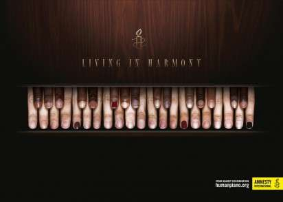 Finger-Formed Piano Ads