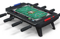 Retro Arcade Tablet Add-Ons - The Foosball iPad Table Recreates the Classic Game Perfectly