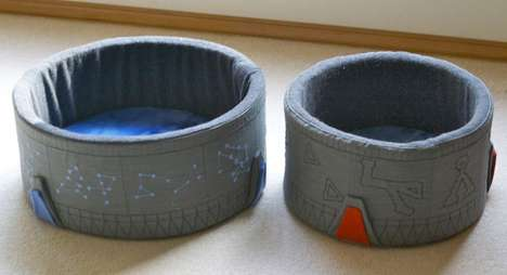 Cozy Sci-Fi Feline Cushions