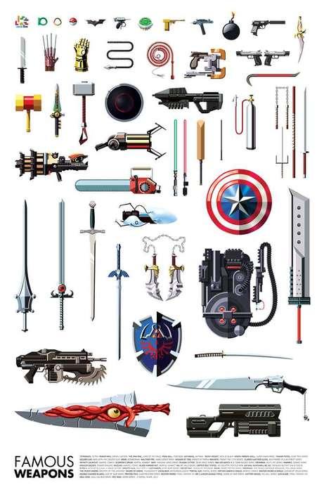 Gamer Weaponry Infographics