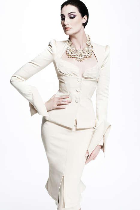 Elegant Hourglass-Enhancing Couture