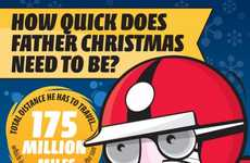 Speedy Sleigh Ride Infographics - The 'How Quick is Santa on Christmas Eve?' Chart is Hilarious