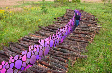 Colorful Trunk-Lined Trenches