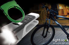 Glowing Theft Preventers - The Bicycle Light Lock Lets You Know if Someone is Stealing Your Ride