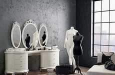 Modern Victorian Vanities - The Venezia Dressing Table is Made for Contemporary Romantics