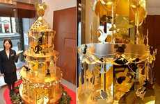 Pure Gold Christmas Trees - Ginza Tanaka Unveils the World's Most Expensive Christmas Tree