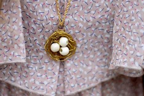 DIY Nest Necklaces